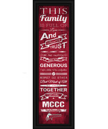 Montgomery County Community College- 24x8 Family Cheer Framed Print - $39.95
