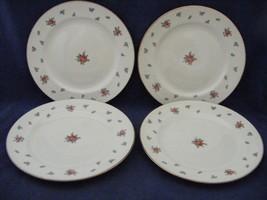 "4 Homer Laughlin American Vogue Rambler Rose 7"" Dessert Salad Plates - $19.95"
