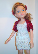 "Open Lace Knitting Crochet 4PC Pattern for 18"" Slim Doll BFC Ink 0056 - $5.00"
