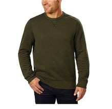 G.H. Bass Men's Crew Neck Sweatshirt, Forest Night Heather, Size : Large - $18.99