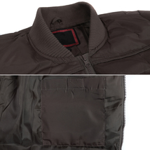 vkwear Men's Quilted Padded Insulated Heavyweight Puffer Bomber Jacket VAQ image 7