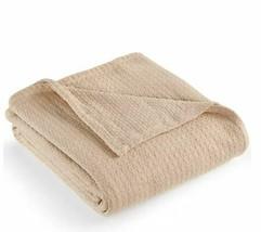 Ralph Lauren Home Classic British Taupe Basket Weave Full Queen Blanket ... - $89.05