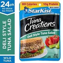 StarKist Tuna Creations Deli Style Tuna Salad – 3 oz. Pouch, Pack of 24 – Ready