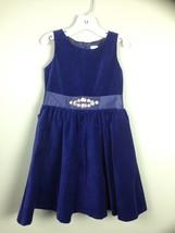Gymboree NWT Holiday Shine Dressy Sleeveless Velveteen Bow Gem Dress Sz 5 Navy - $18.53