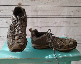 Merrell Olive Women's Trail Hiking Running Shoes Vibram Sole Grey Size 8.5 - $46.74