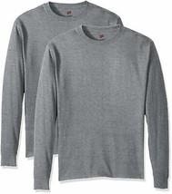 Hanes Men's ComfortSoft Long-Sleeve T-Shirt (Pack of 2) Large Light Steel - $21.84