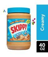 SKIPPY CREAMY PEANUT BUTTER 40 OUNCES , 3 INCLUDED # UPC 037600106252 - $34.00
