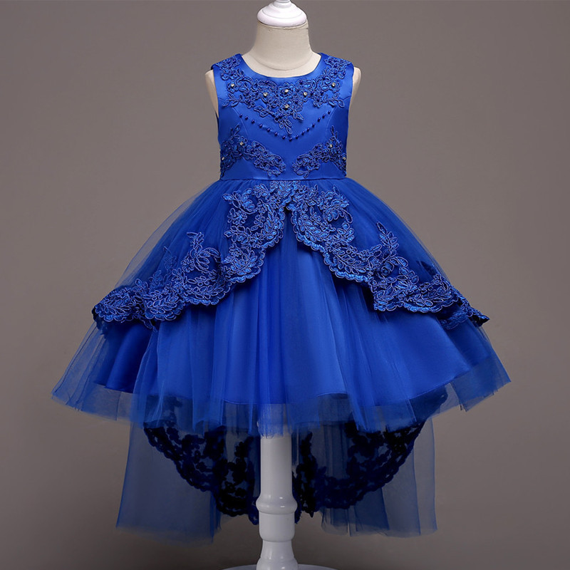 Primary image for  Royal Blue Girls Dress Flower Girl Pageant Birthday Party Princess Dress