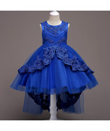 Royal Blue Girls Dress Flower Girl Pageant Birthday Party Princess Dress  - $59.99