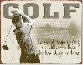 Golf Best Day Inspirational Funny Retro Bar Sports Wall Art Metal Tin Sign New - $15.99