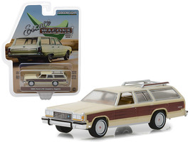 """1985 Ford LTD Country Squire with Roof Rack Cream with Wood Paneling \""""E... - $13.18"""