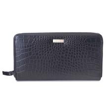 Calvin Klein CK Leather Organizer Coin Zip Around Rfid Wallet Purse Black 79511