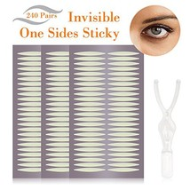240 Pairs Natural Invisible Single Side Eyelid Tape Stickers- Instant Ey... - $13.36