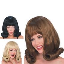 Wig - 60's Flip - Set of 3 - Black, Blonde & Brunette - Adult One-Size-F... - $34.18