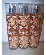Lot of 3 Bath & Body Works Snowflakes & Cashmere Fine Fragrance Mist 8 o... - $22.50