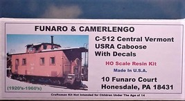 Funaro & Camerlengo HO Central Vermont USRA  Caboose Kit 512 image 1