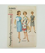 Simplicity 5365 sewing pattern Vintage Sub Teen One Peice Dress Cut Size... - $16.50
