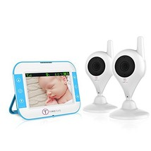 TimeFlys Video Baby Monitor TC350 2 Cameras 3.5 inch LCD Vibration Two W... - $146.67