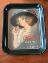 Vintage Original Coca Cola Tray 13 1/4 X 11 3/4 Hanging Hook - $27.70