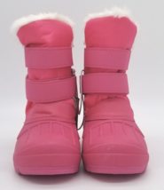 Cat & Jack Toddler Girls Fuchsia Pink Lev Faux Fur Insulted Winter Snow Boots image 2