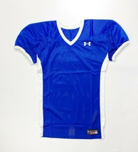 Under Armour Game Stock Hammer Football Jersey Youth Boy's L XL Blue White - $12.49