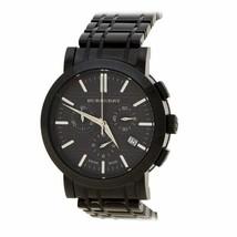 100% Authentic Burberry Heritage Mens Chronograph Black Ion BU1373 Watch - $282.15