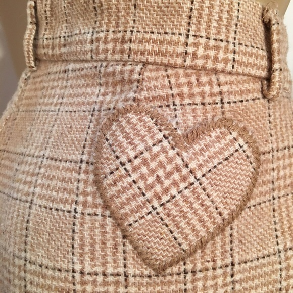 Juicy Couture Tan Plaid wool blend pants 10