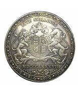 Rare Antique European 1887 United Kingdom - Victoria Five Coin. Explore ... - £19.97 GBP
