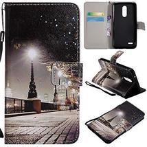 XYX Wallet Phone Case for LG K10 2018,[City Lights][Wrist Strap][Kicksta... - $4.94