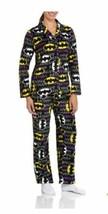Womens Batman Long Sleeve Micro Fleece Notched PJ Pajama Set Size XL &  ... - $34.31