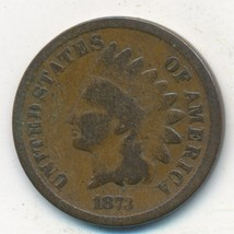 1873 INDIAN HEAD CENT-OPEN 3-SEMI KEY DATE! NICE CIRCULATED CENT-FREE S/... - $29.95