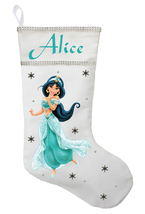 Princess Jasmine Christmas Stocking - Personalized Princess Jasmine Stoc... - $29.99