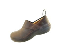 Timberland Pro Renova Slip Resistant Shoes Womens Size 9.M Brown Leather Slip On - £20.06 GBP