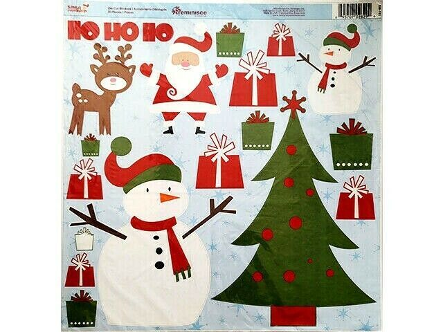 Reminisce Santa's Workshop Die Cut Stickers 12x12 Sheet, 23 Pieces
