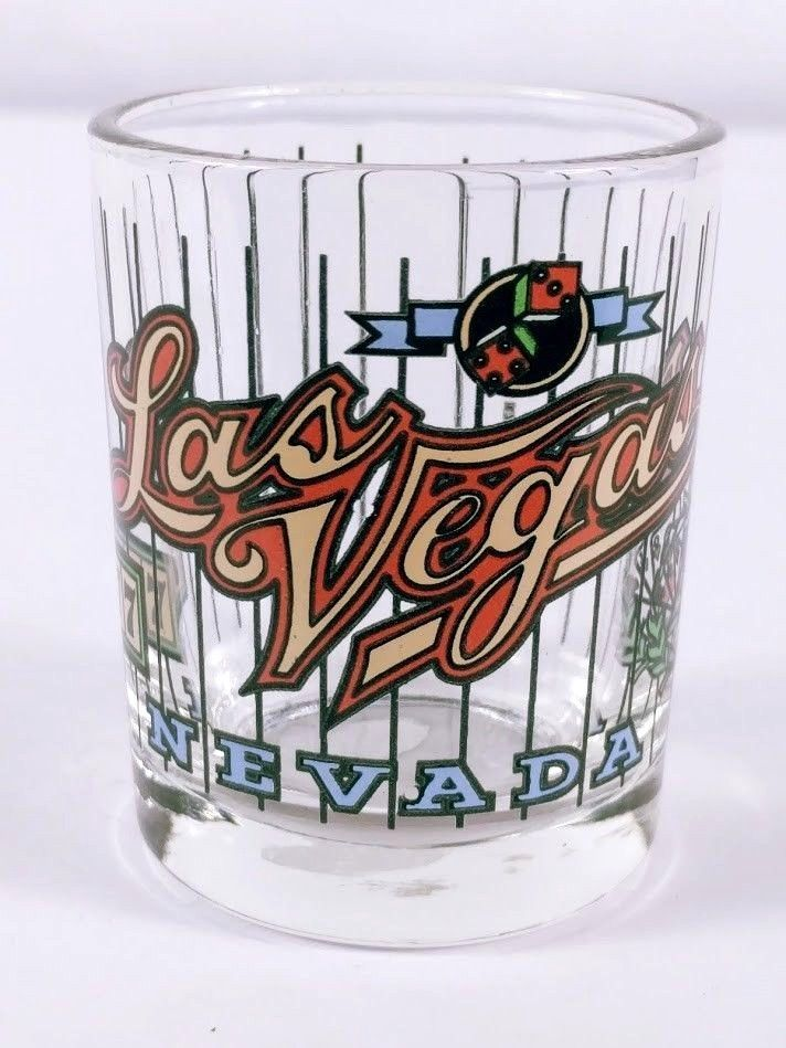 "Las Vegas Nevada Cards Dice 777 2.5"" Collectible Shot Glass"
