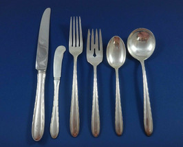 Silver Flutes by Towle Sterling Silver Flatware Set For 12 Service 76 Pieces - $3,750.00