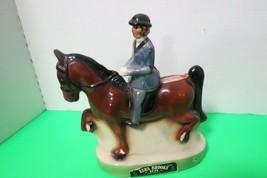 Vintage 1974 Heritage China Ezra Brooks Gaited Horse & Rider Decanter Empty #185 - $44.55