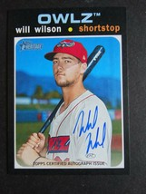 2020 Topps Heritage Minor League Will Wilson Owlz Real One Auto Card - $9.99