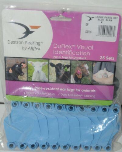 Destron Fearing DuFlex Visual Livestock Id Panel Tags Large Blue Blank 25 Sets
