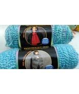 Homespun Yarn Lion Brand 2 skeins 6 oz 1 sky blue 1 waterfall - $11.87