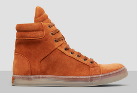 Kenneth Cole New York Men's Double Header Suede Sneaker, Rust,SIze 7 Med... - $69.29