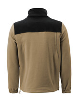 Men's Full Zip-Up Two Tone Solid Warm Polar Fleece Soft Collared Sweater Jacket image 6
