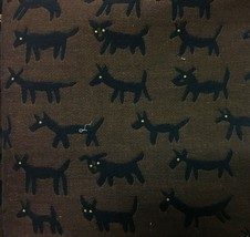 Donghia Upholstery Fabric Housepets Dog Motif 2.625 yd Black and Brown 0... - $124.69