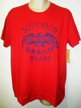 RALPH LAUREN - POLO - SUPERIOR - BRAND - EAGLE - RED - T-SHIRT - NEW - L... - $17.99