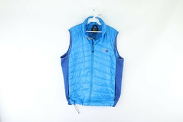 Mountain Hardwear Mens Large Ghost Shadow Insulated Full Zip Vest Jacket Blue - $79.15