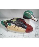 Ceramic Wood Duck Figure Sculpture Drake Hand Painted - $19.80
