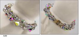 Vintage 2 Strand Aurora Borealis Glass Bead Bracelet  (Inventory #J446) - $70.00