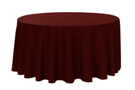 Round Polyester Tablecloth Burgundy 132 inch - $48.99