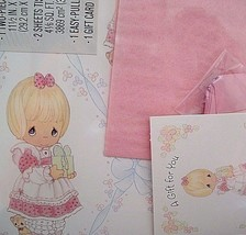 Vintage Precious Moments Hallmark Gift Wrap Set Assortment Scrapbooking ... - $8.90