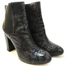 Juicy Couture Women's Snakeskin Pull On Mid Calf Boots Heels Size 8.5 M ... - £24.99 GBP